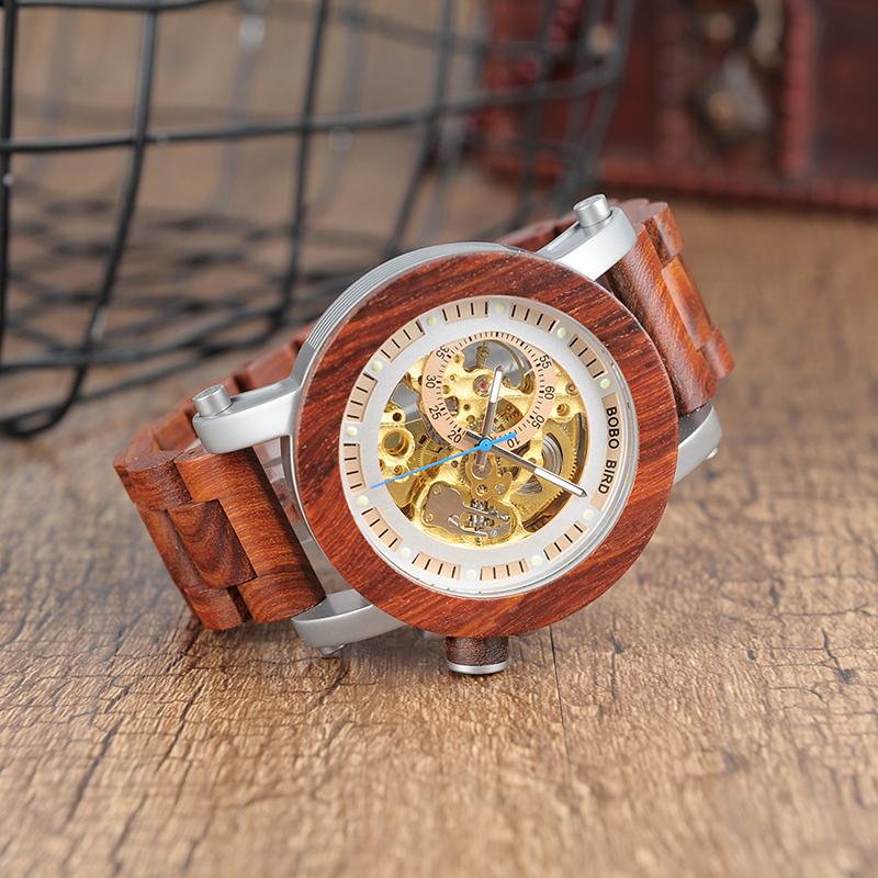 Ceas din lemn Bobo Bird curea din lemn