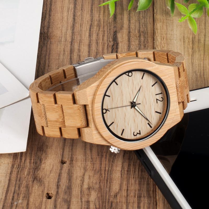 Ceas de mana din lemn de bambus Bobo Bird cu curea din bambus