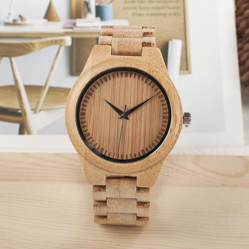 Ceas din lemn Bobo Bird cu curea din lemn, D19