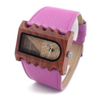 Ceas din lemn Bobo Bird dama dreptunghiular