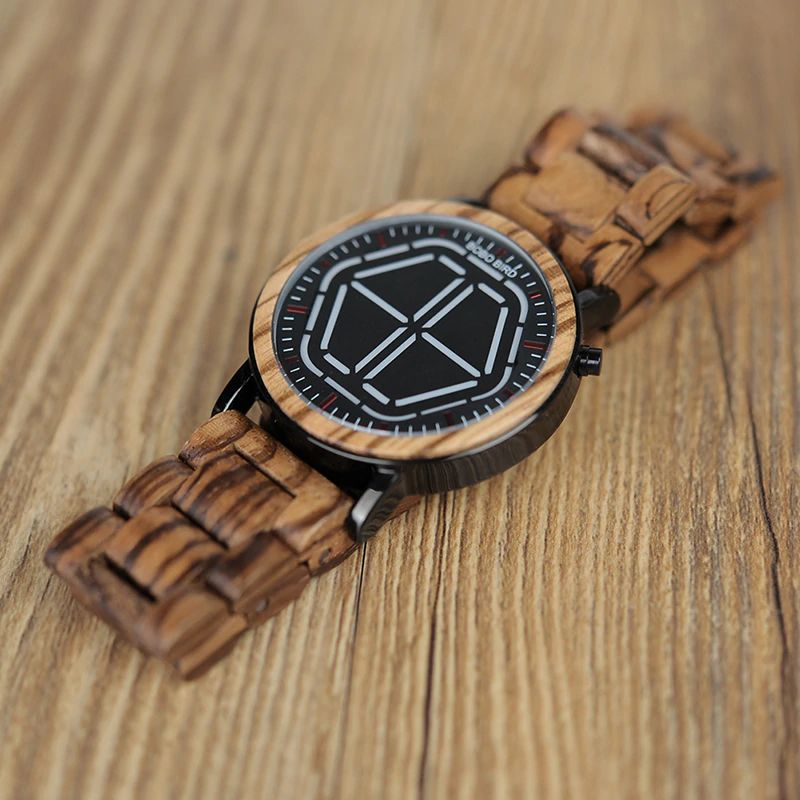 Ceas din lemn Bobo Bird led