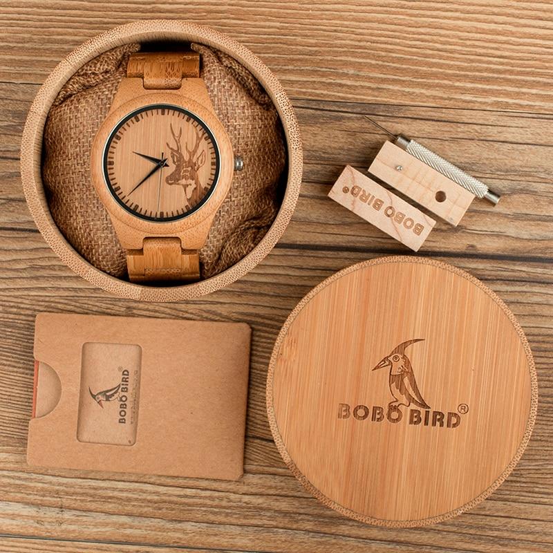 Ceas din lemn Bobo Bird cu curea din lemn D28