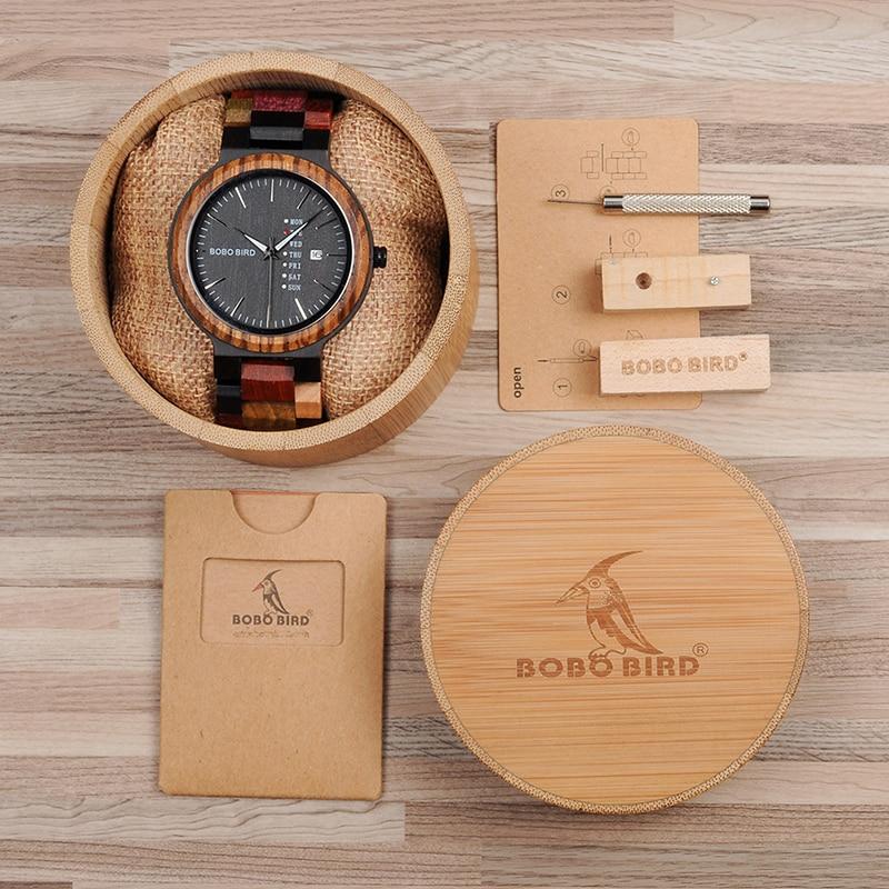 Ceas din lemn Bobo Bird P14-1