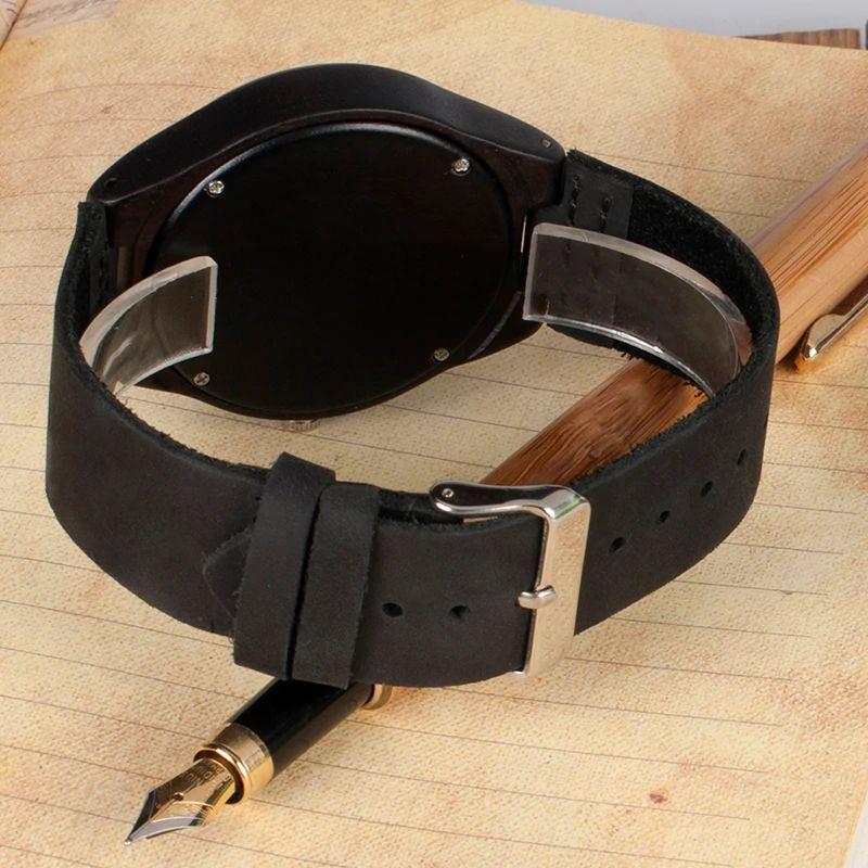 Ceas din lemn Bobo Bird curea din piele F08