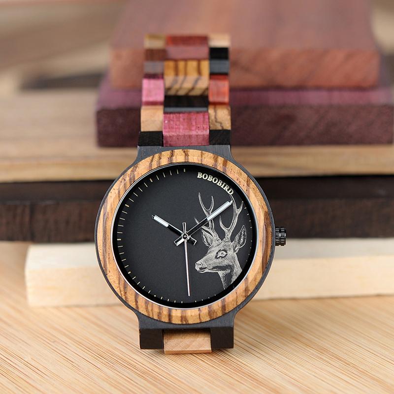 Ceas din lemn Bobo Bird P14-2