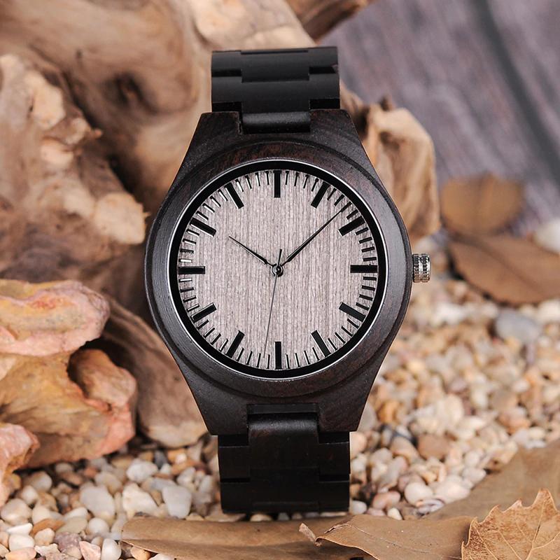 Ceas din lemn de dama Bobo Bird cu curea din lemn, O08-1
