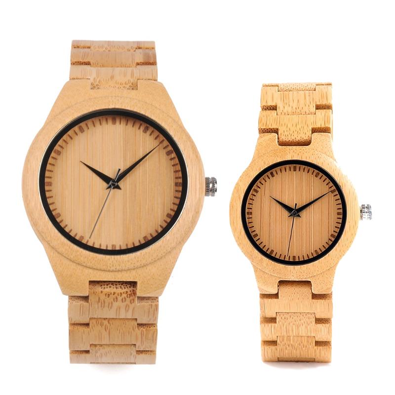 Set ceas din lemn Bobo Bird pentru cupluri, curea din lemn