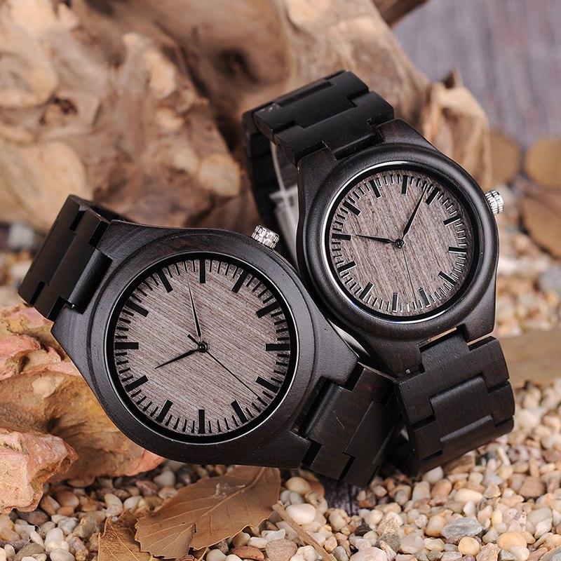Set ceas din lemn negru Bobo Bird pentru cupluri