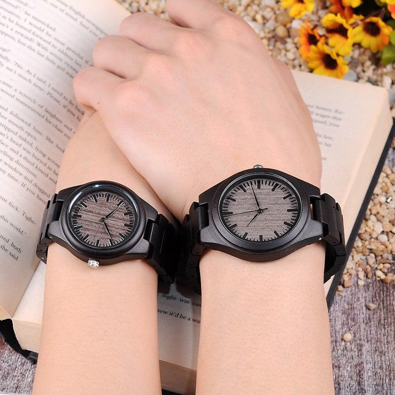 Set ceasuri din lemn negru Bobo Bird pentru cupluri