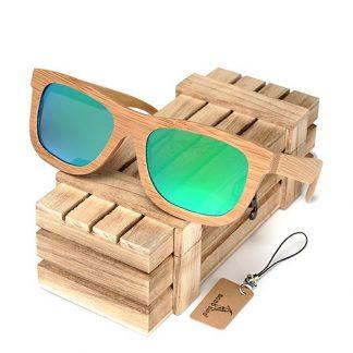 Ochelari de soare din lemn Bobo Bird BG003, lentila verde