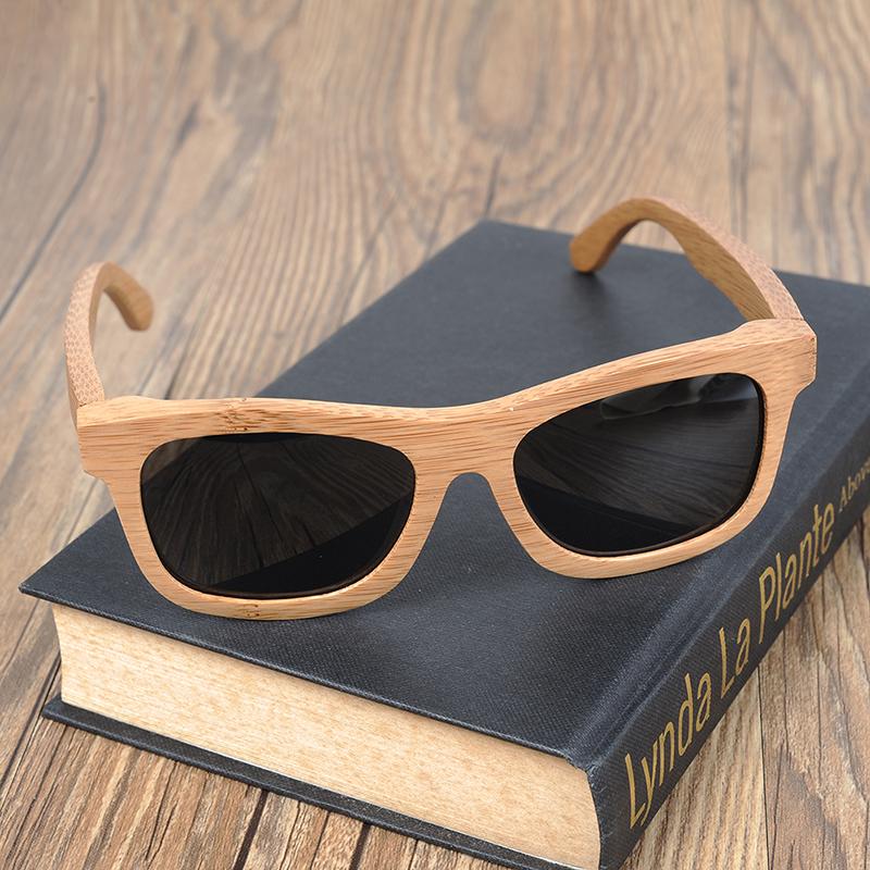 Ochelari de soare din lemn lentila gri