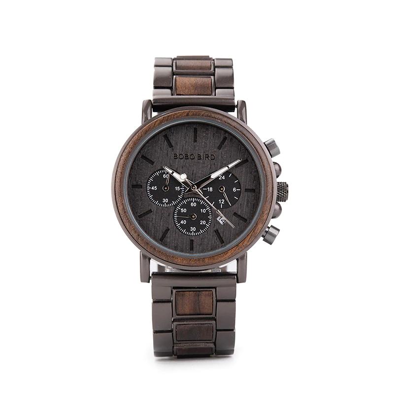 Ceas din lemn Bobo Bird cu curea din lemn, Q26-1