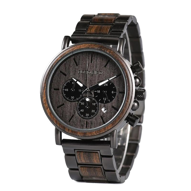 Ceas din lemn Bobo Bird cu curea din lemn Q26-1