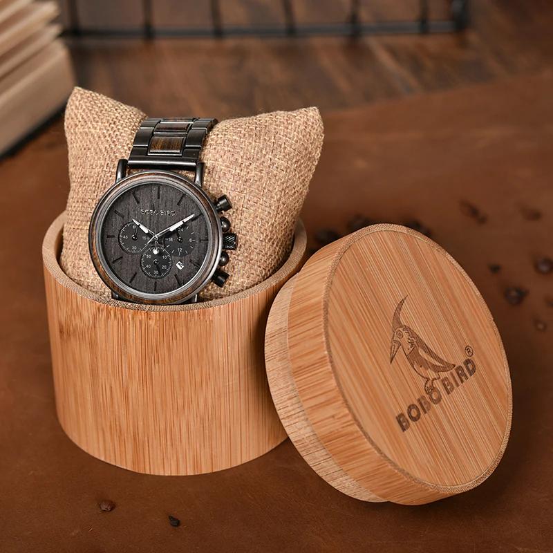 Ceas din lemn cu curea din lemn Q26-1