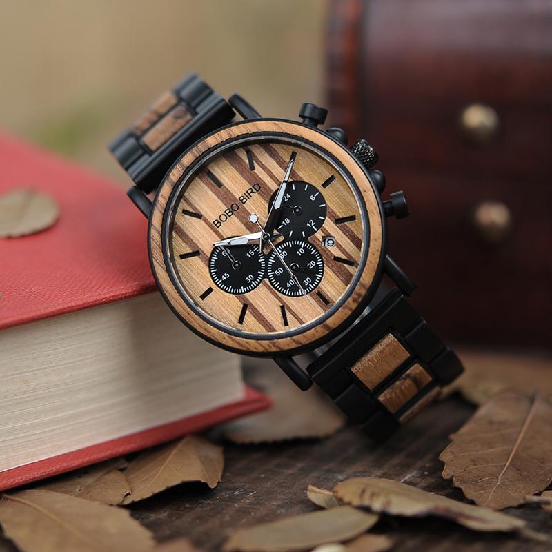 Ceas din lemn Bobo Bird P09-1