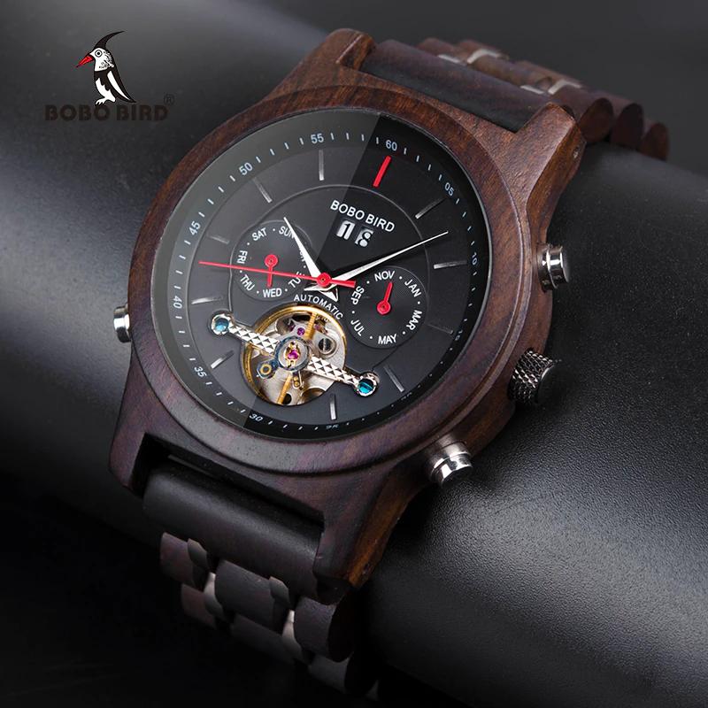 Ceas din lemn Bobo Bird Q27-1 negru