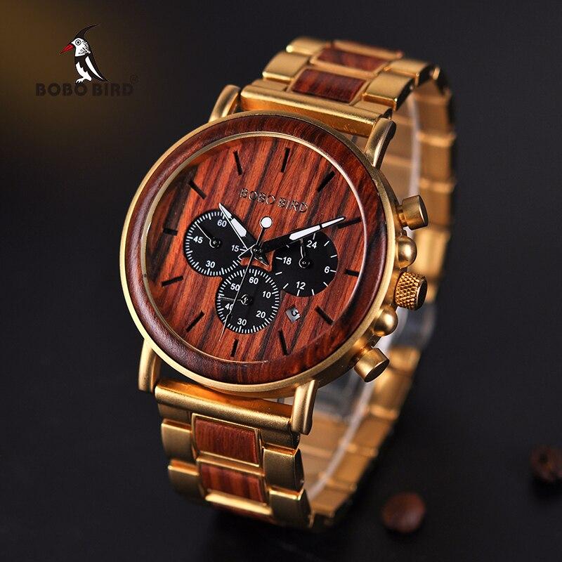 Ceas din lemn Bobo Bird cu curea din lemn Q26-2
