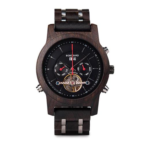 Ceas din lemn Bobo Bird mecanic Q27-1 negru