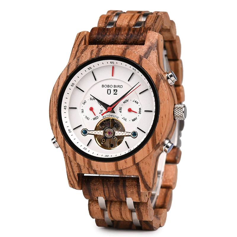 Ceas din lemn Bobo Bird mecanic Q27-2