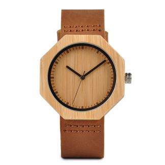 Ceas din lemn Bobo Bird octogonal