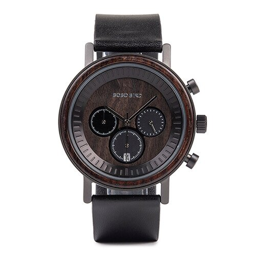 Ceas din lemn Bobo Bird crono, R01