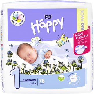 Happy Newborn scutece, 2-5 kg, 78 buc