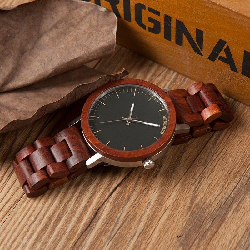 Ceas din lemn Bobo Bird cu curea din lemn WM 16