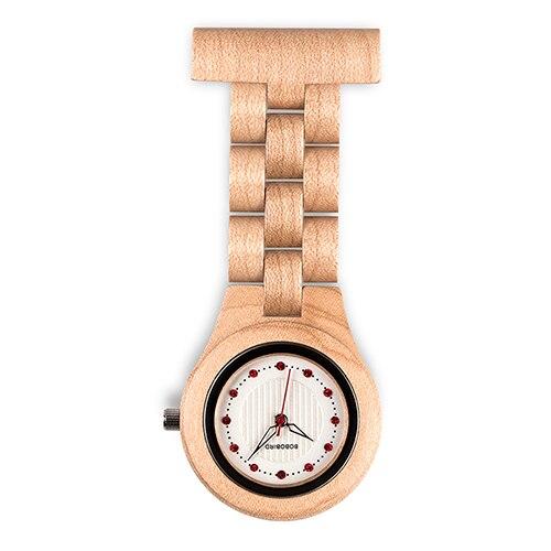 Ceas din lemn Bobo Bird tip ecuson R20